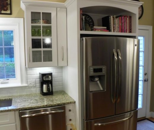 Home Improvements Refrigerator Cabinet Kitchen Remodel Home Kitchens