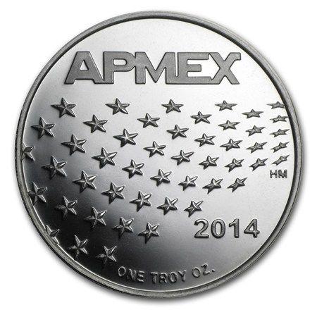 1 oz Silver Round - APMEX (2014 Star and Stripes)