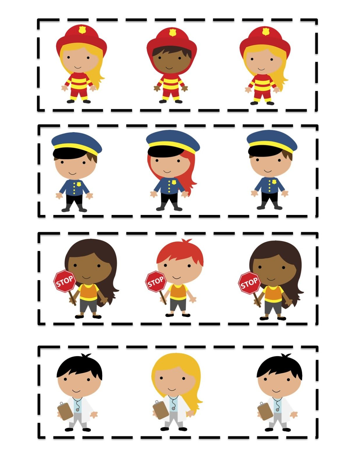 Community Helper S Pattern Cards