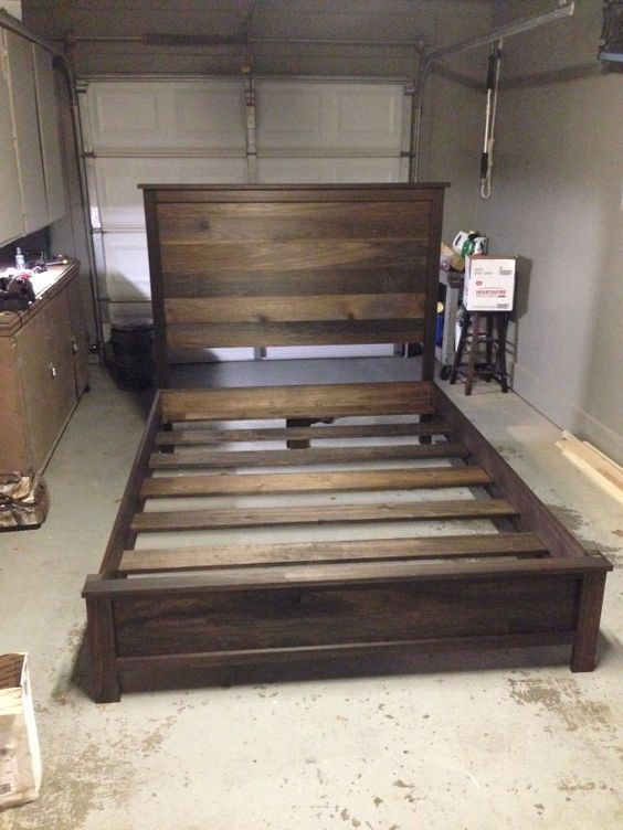 headboard and frame step by step guide diy bed - Diy Rustic Bed Frame
