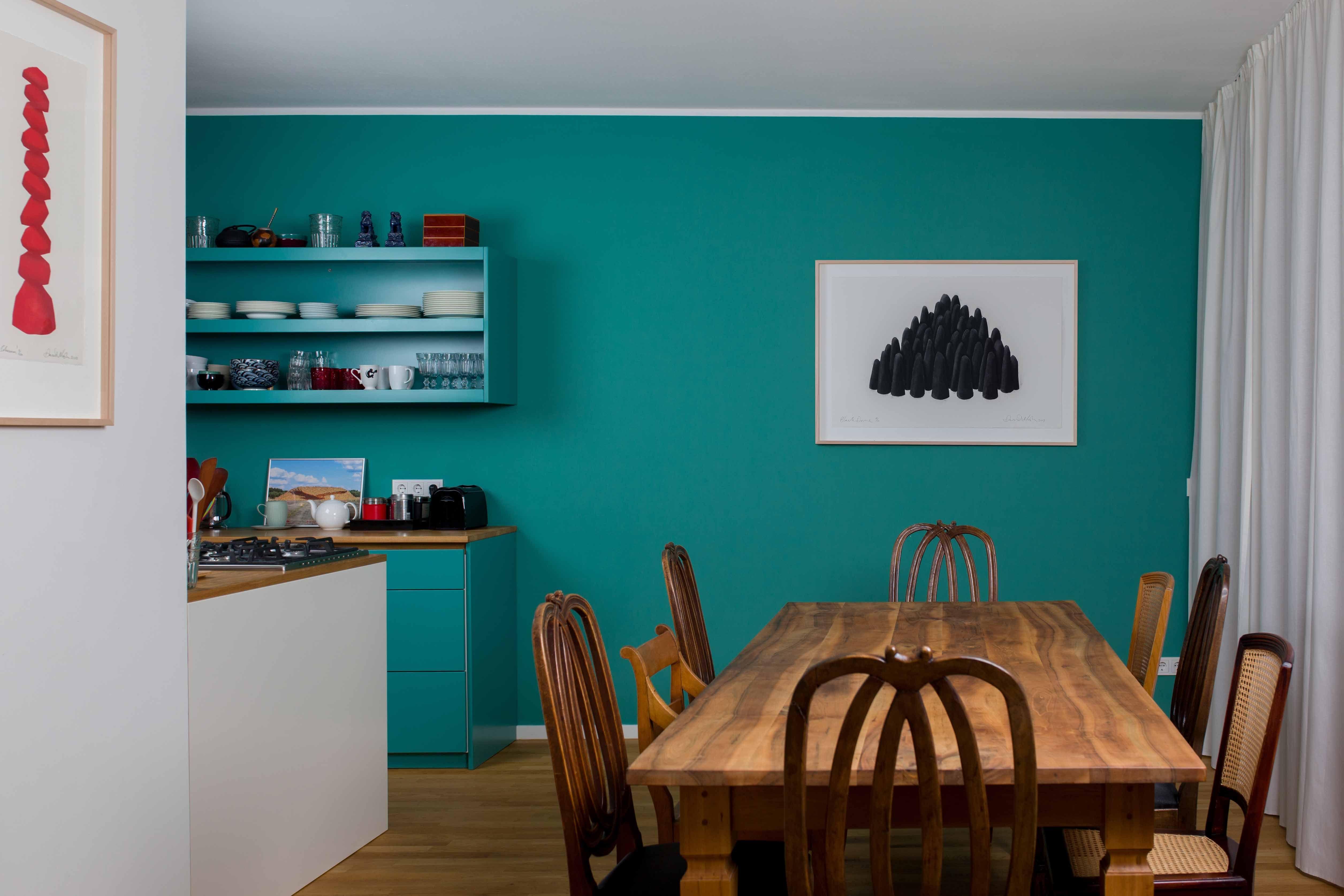 Küchenfarbe Wand loft in berlin, wand- und küchenfarbe 'esmeralda' | anna von