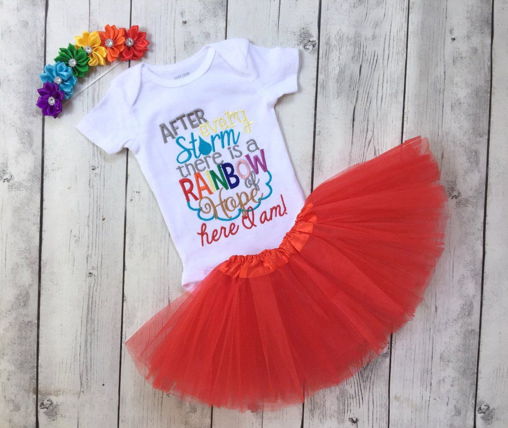 Rainbow Baby Outfit For Girls Rainbow Baby Headband Miracle Baby