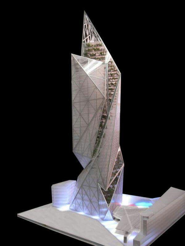 Liebeskind Futuristische Architektur Hochhaus Kreativ Studium Architekturmodell Entwurf Skizzen Architektonische Modelle