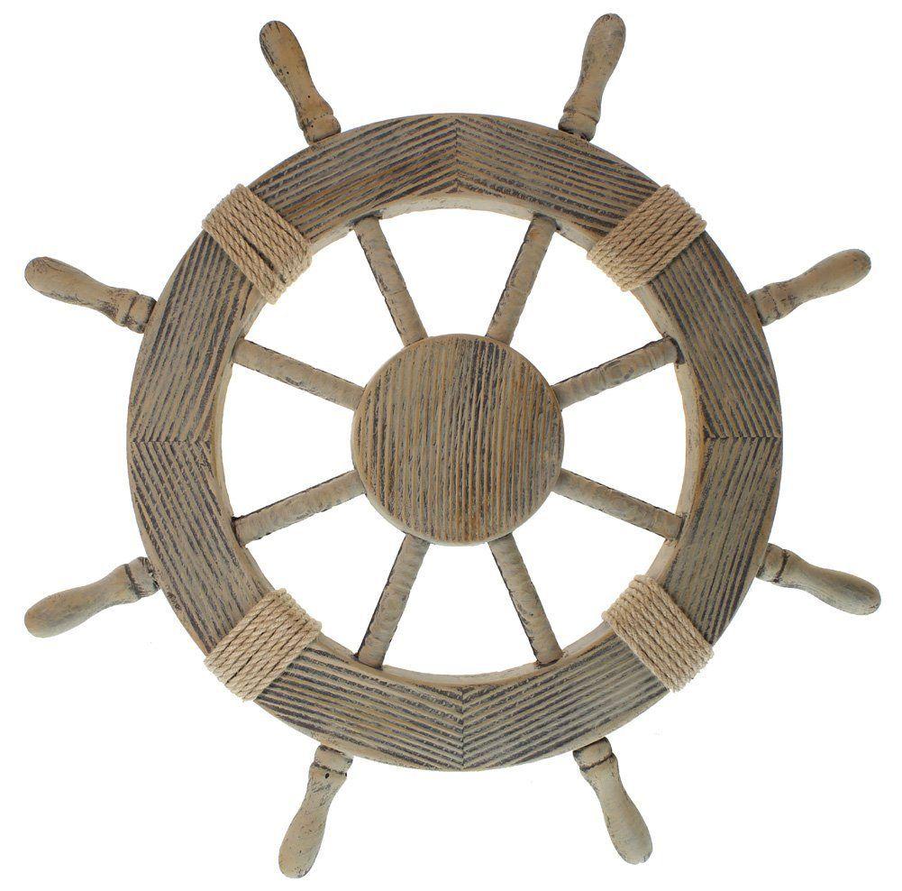 31 99 Smile Nautical Decor 24 Wood Pirate S Ship Wheel Marine Wall Sculptures