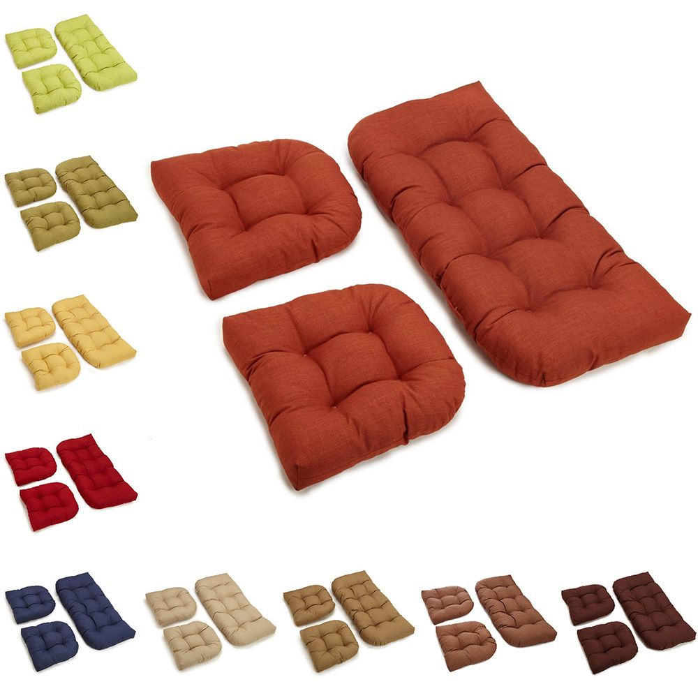 Charmant This Set Of U Shaped Outdoor Chair Cushions Is A Stylish And Comfortable  Addition To Any Compatible Patio Settee Or Bench. This Set Includes One  Bench ...