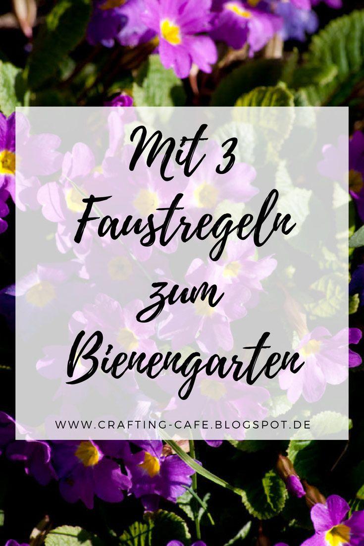 {Blogsommer} Mit 3 Faustregeln einen Bienengarten anlegen #vorgartenanlegen