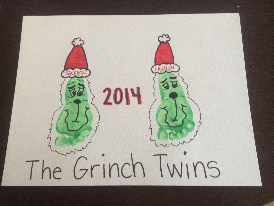 Grinch Footprint Craft