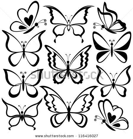 20+ Inspiration Design Butterfly Drawing Images Easy