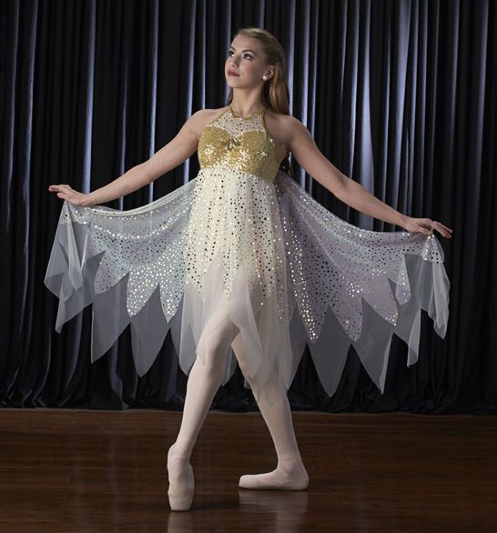 angelic angel lyrical ballet fairy dress wings christmas dance costume axxl us - Halloween Ballet Costumes