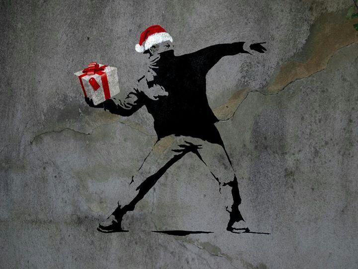 Arte Callejero Street Art Banksy Merry Christmas Street Art