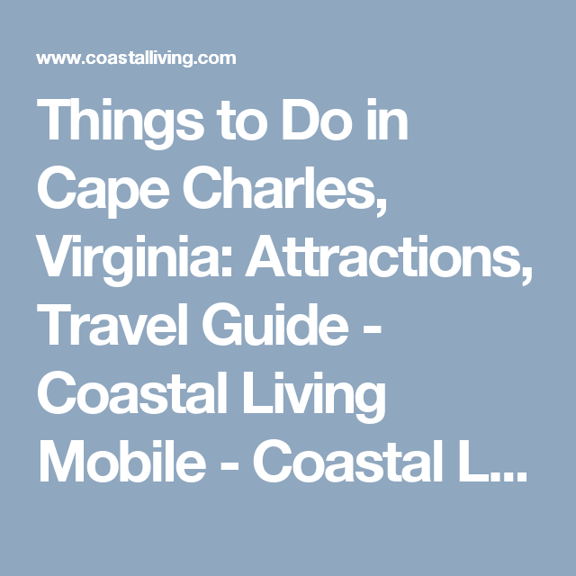 what to do in cape charles