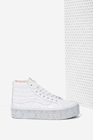 4a628f57a9b7ac Nasty Gal x Vans Step Up Sk8-Hi Leather Platform Sneaker