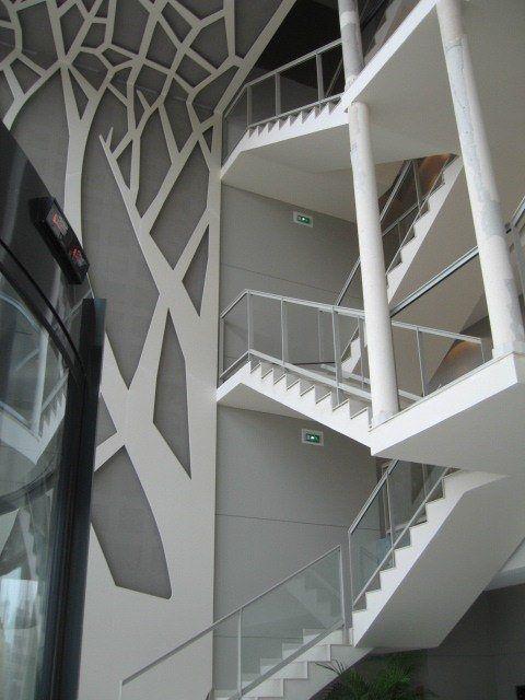 Hall d 39 entr e immeuble decor vegetal reims emmanuel verreaux aidge immeuble hall d 39 entr e - Immeuble vegetal ...