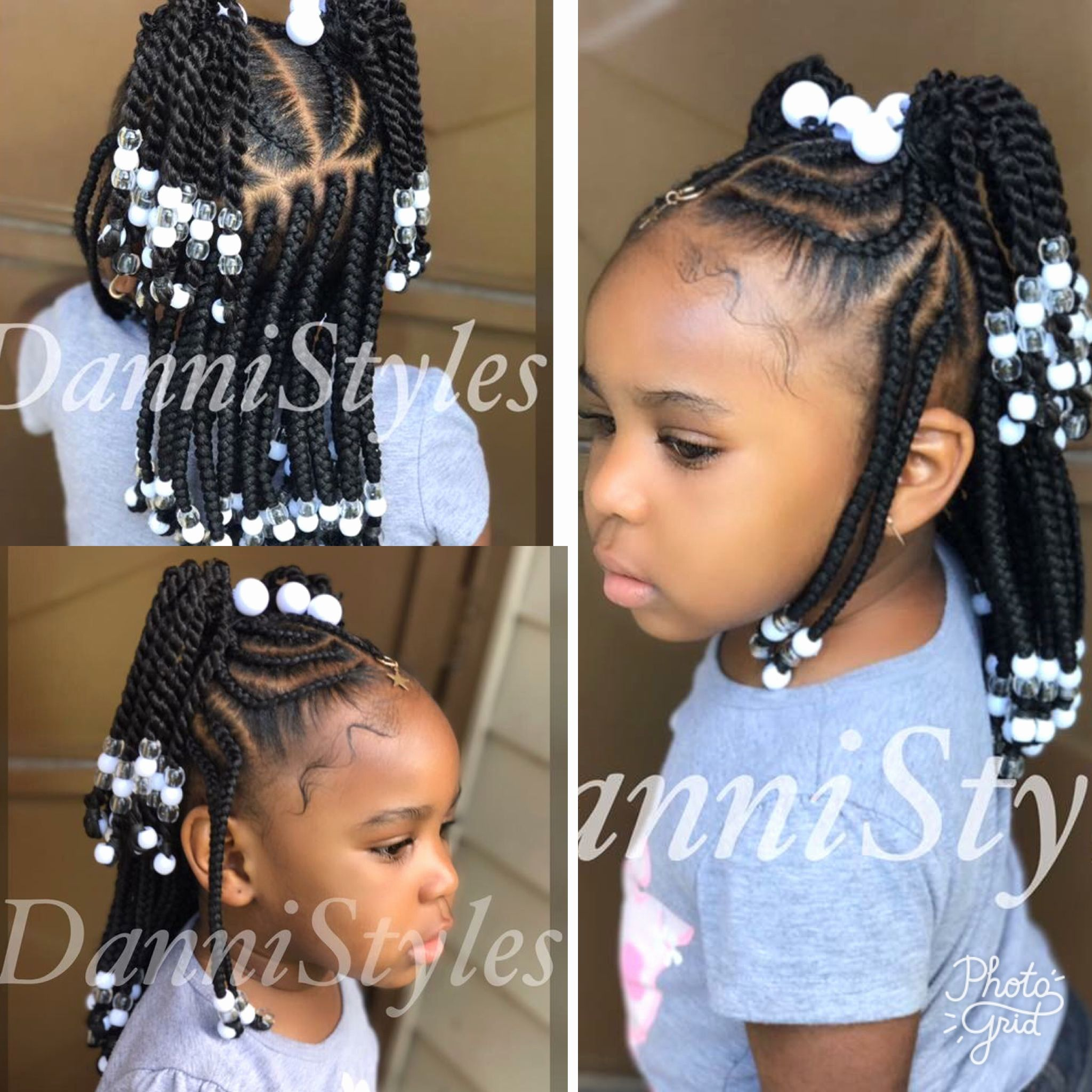 Easy Braided Hairstyles For Little Black Girls Littlegirlhairdos Littlegirl Littleblackgirl Bla Cute Little Girl Hairstyles Lil Girl Hairstyles Hair Styles