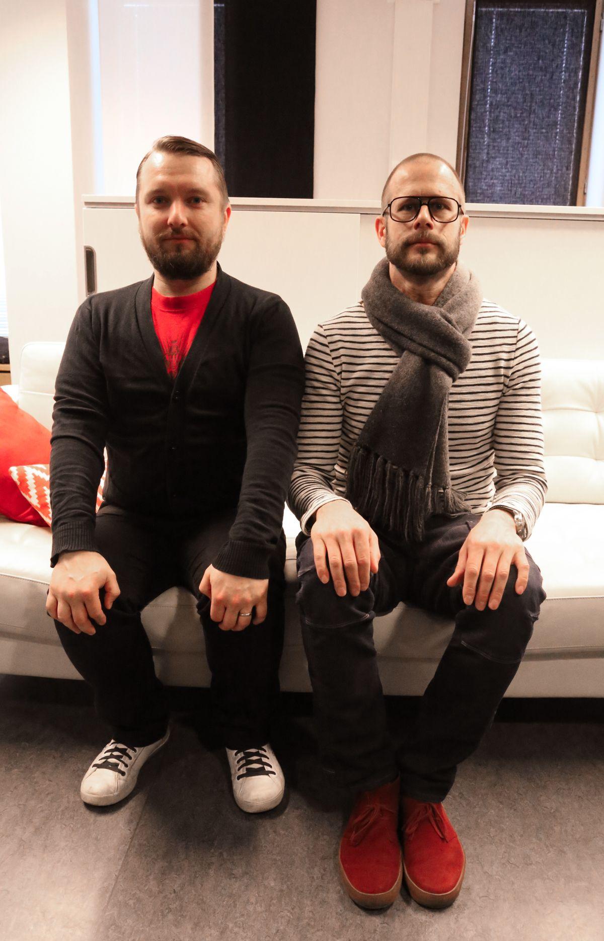Copywriter-Concept Designer Janne Vahvaselkä and Creative Director Jukka Mannila mean serious business.