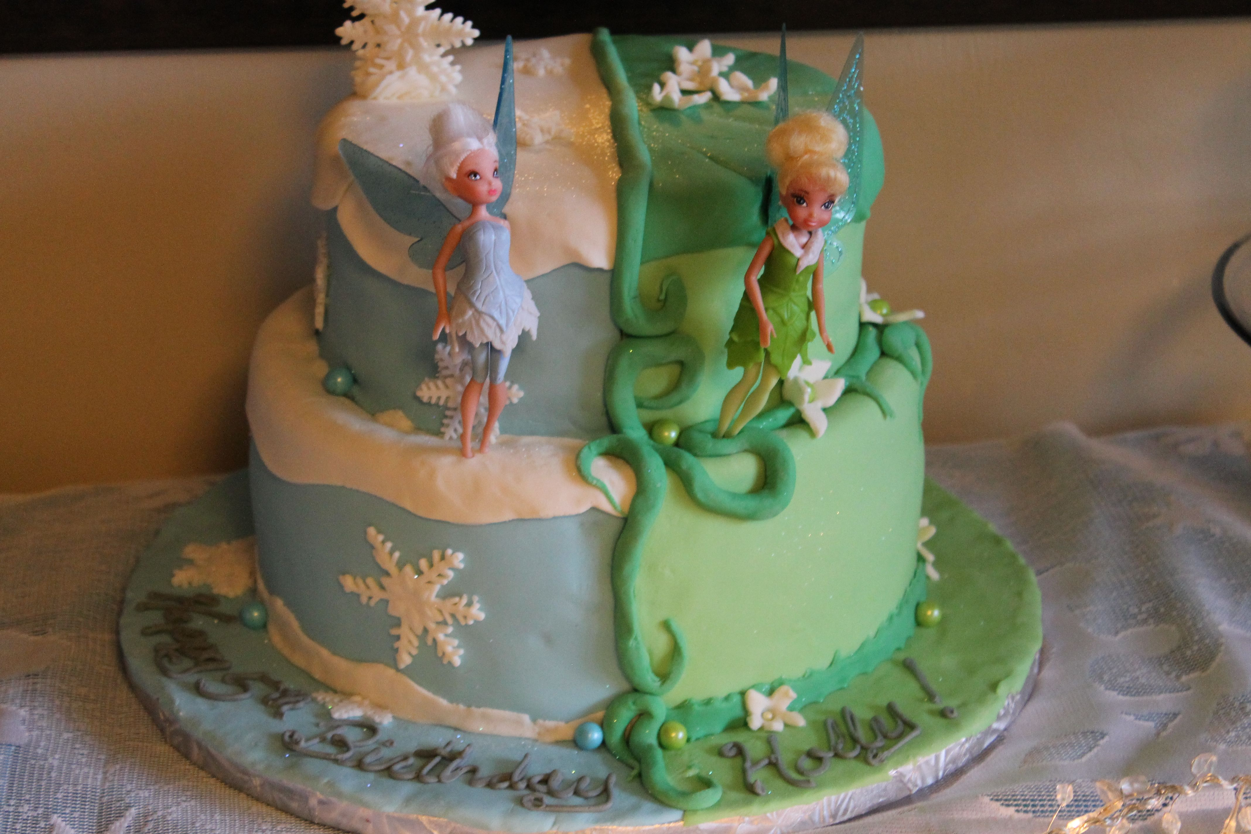 HOLLY'S PERIWINKLE/TINKERBELL CAKE (WINTER WOODS/PIXIE ...