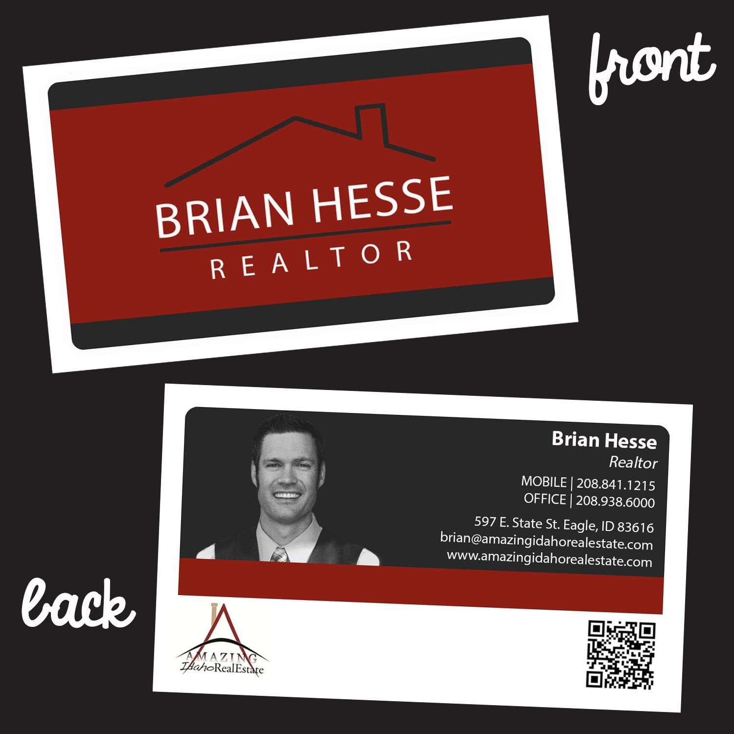 Custom Business Card Design Realtor Cards