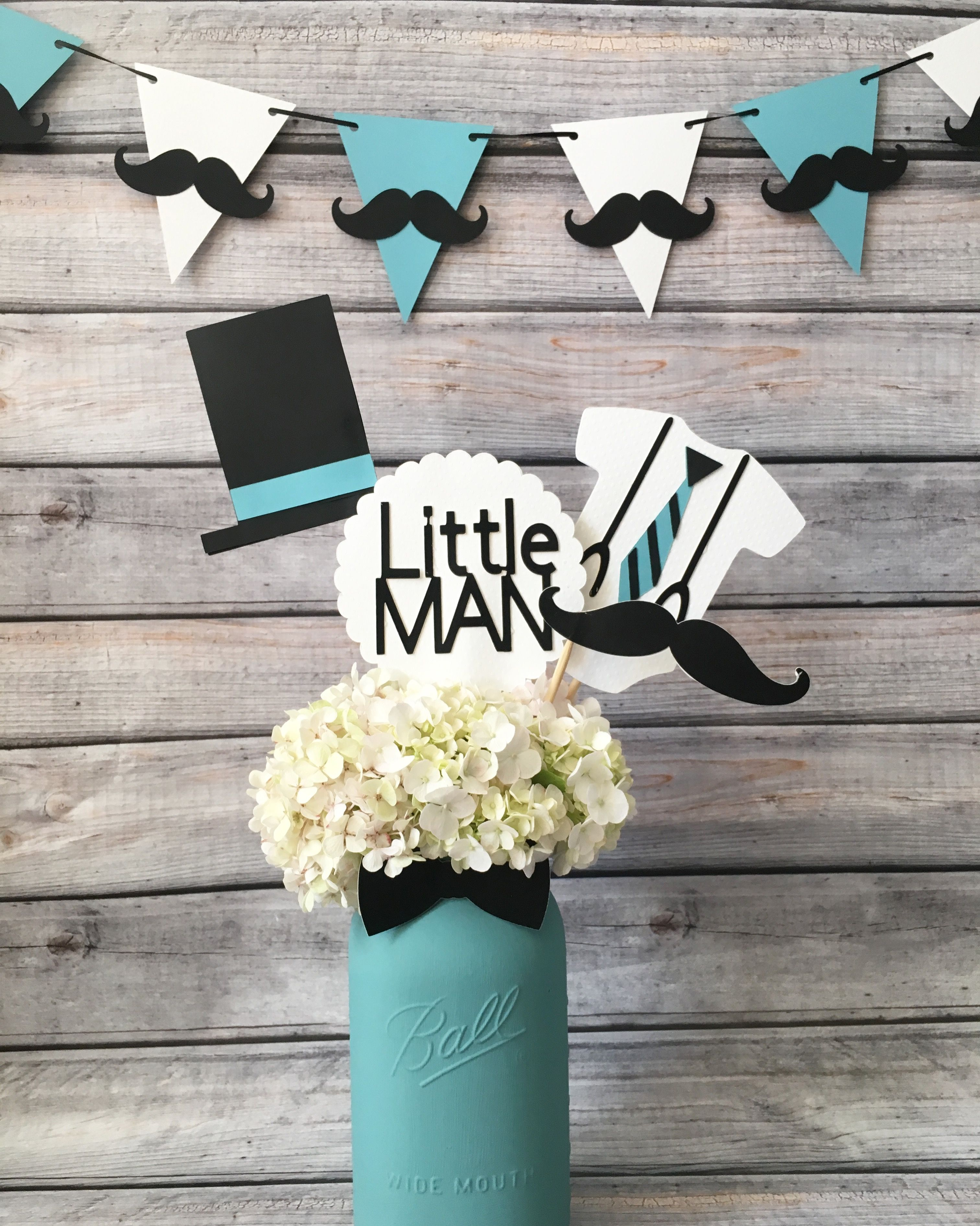 Литл мен Little Man Centerpieces, Babyshower Centerpieces For Boys, Baby  Shower Decorations For Boys