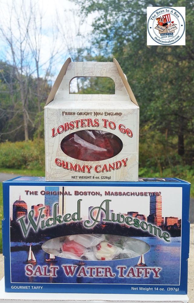 Love salt water taffy and gummy lobsters? Like/share on https://facebook.com/thebeaninabox and we'll pick a winner at random. Hope it makes you wicked happy! #giveaway #Bostonlove