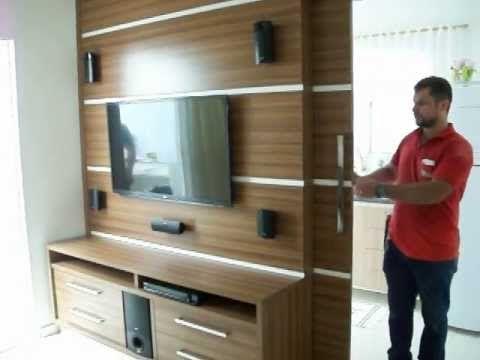 painel de tv porta de correr e guarda roupa decora o e ideias pra casa pinterest. Black Bedroom Furniture Sets. Home Design Ideas