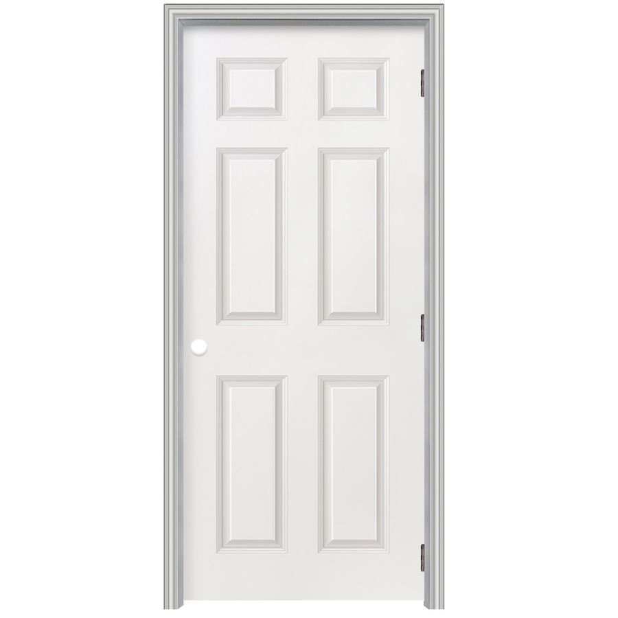 Reliabilt 22 In X 80 In 6 Panel Hollow Textured Molded Composite Left Hand Interior Single Prehung Door Lowes Com Prehung Doors Reliabilt Interior