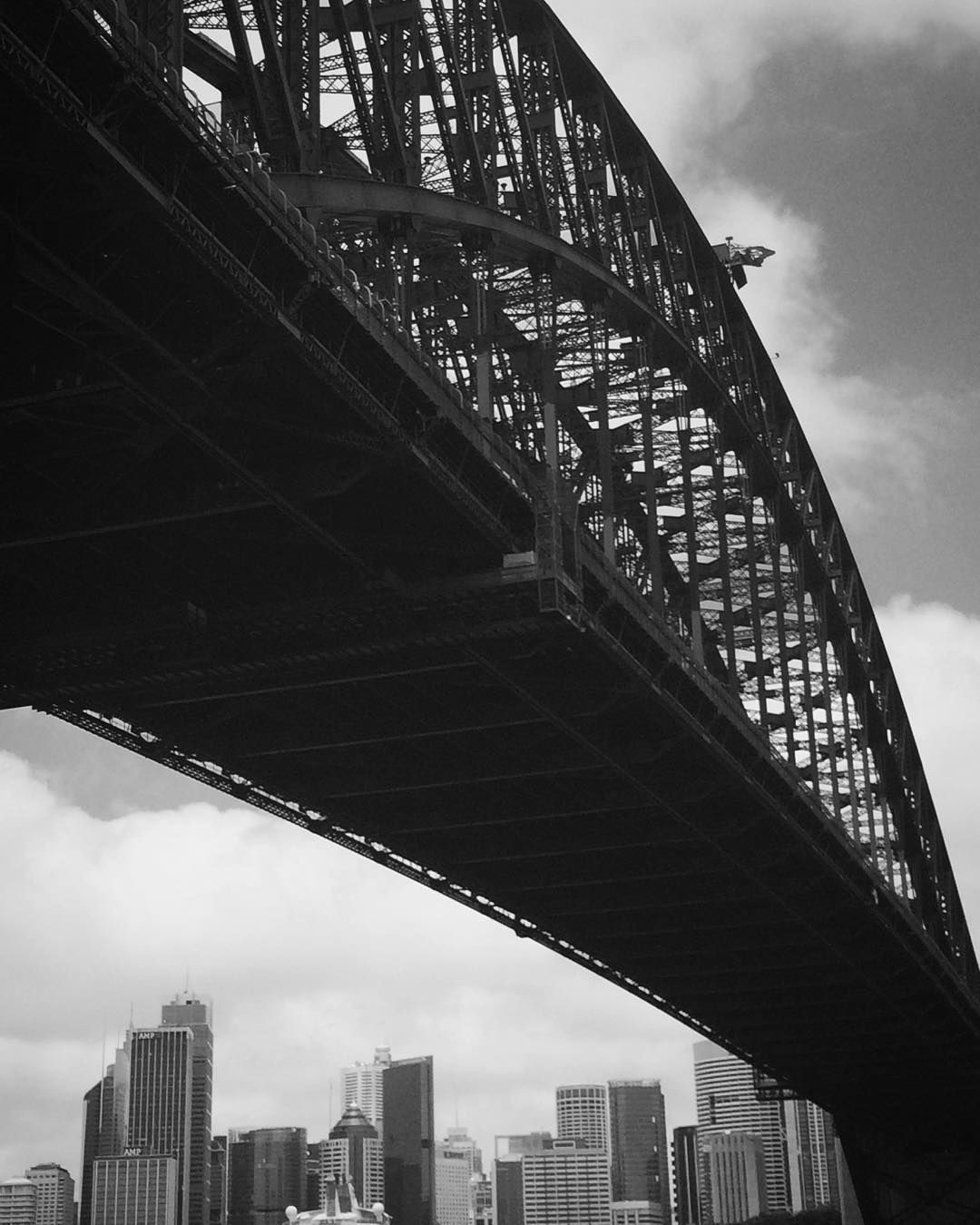 Sydney Harbour Bridge and skyline taken from North Shore. It's an iconic landmark and totally worth the climb even if it does cost you a week's wages to do it!! by lelly_jane http://ift.tt/1NRMbNv