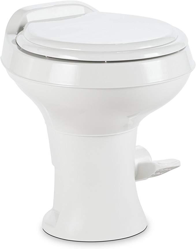 Amazon Com Dometic 300 Series Standard Height Toilet White Automotive In 2020 Toilet Flush Toilet Skoolie