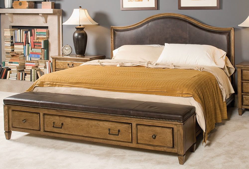 American Home Leather Bed By American Drew   A La Z Boy Furniture Company