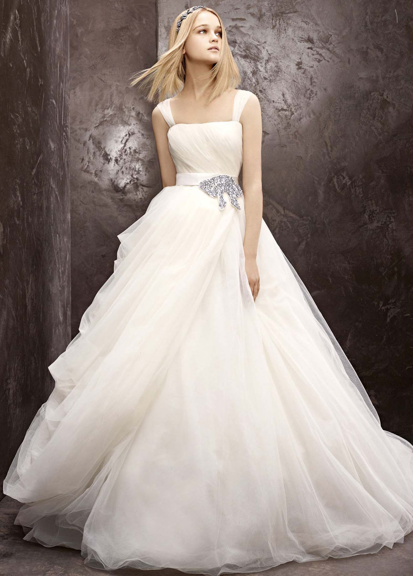 Wedding dress Tulle Ball Gown With Asymmetrical Draped Skirt Vera ...