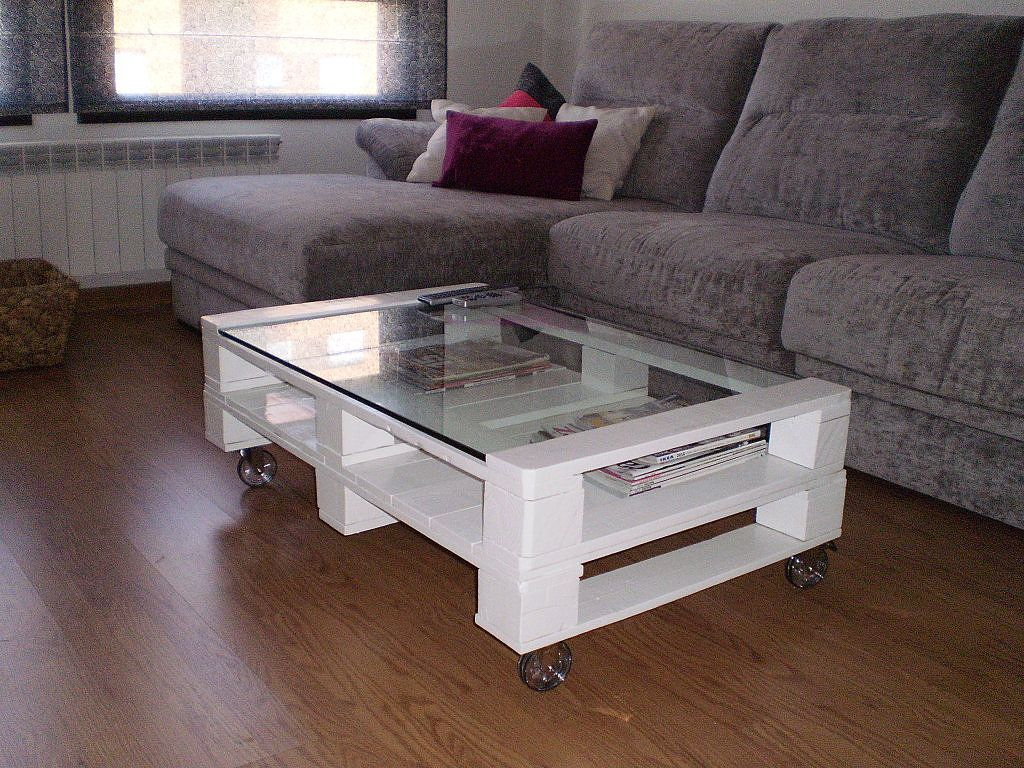 Mesas de centro con palets para nuestros salones wood - Mesa de palets ...