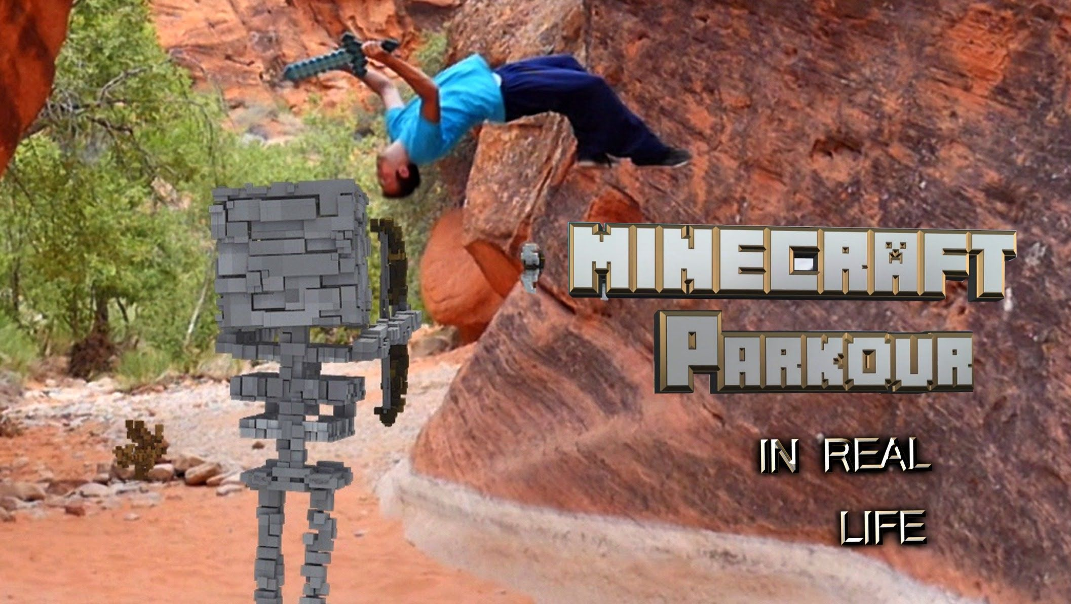 MINECRAFT PARKOUR Story Mode In REAL LIFE Real life