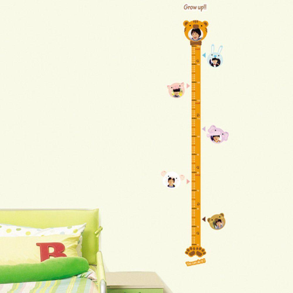 Animal height measurement growth chart metric for children animal height measurement growth chart metric for children removable home decoration wall sticker nvjuhfo Choice Image