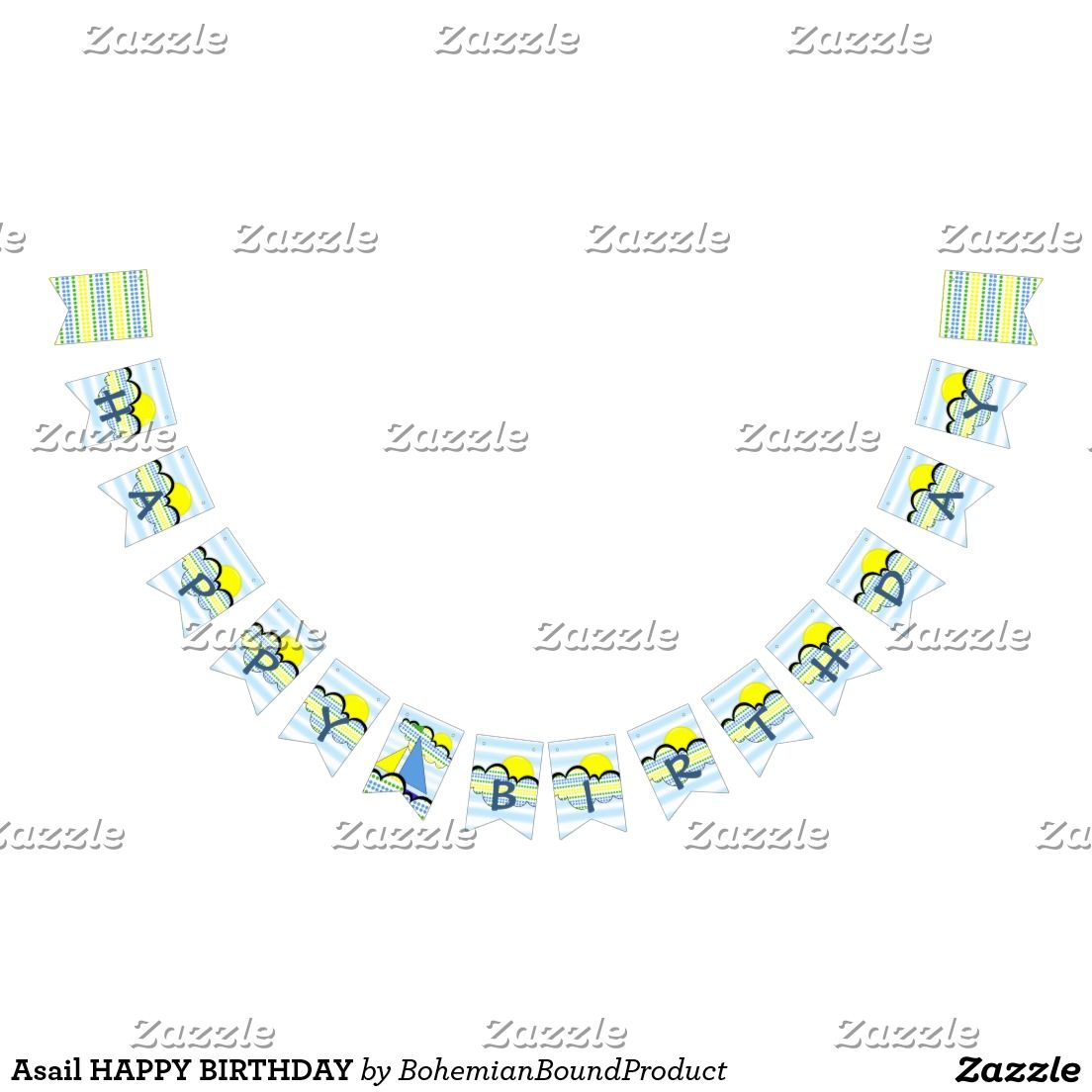Asail HAPPY BIRTHDAY Bunting Flags