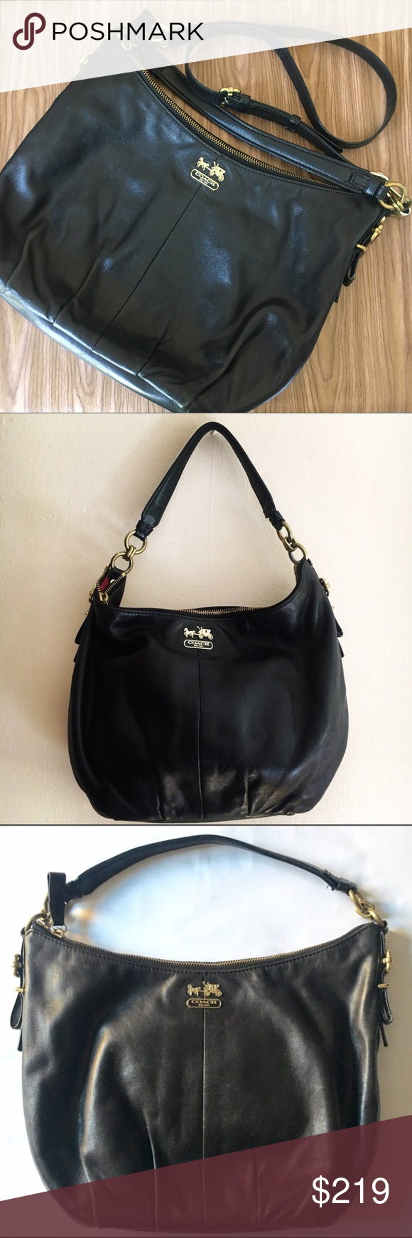 Coach Black Leather Convertible Bag Preloved Coach Leather Bag