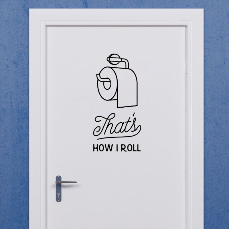Black English creative DIY wall stickers toilet stickers Home ...