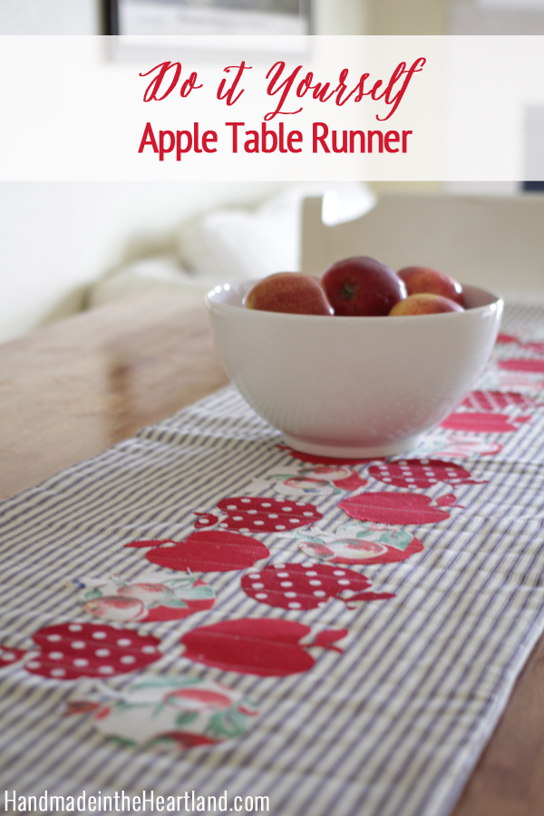 Merveilleux Apple Table Runner.