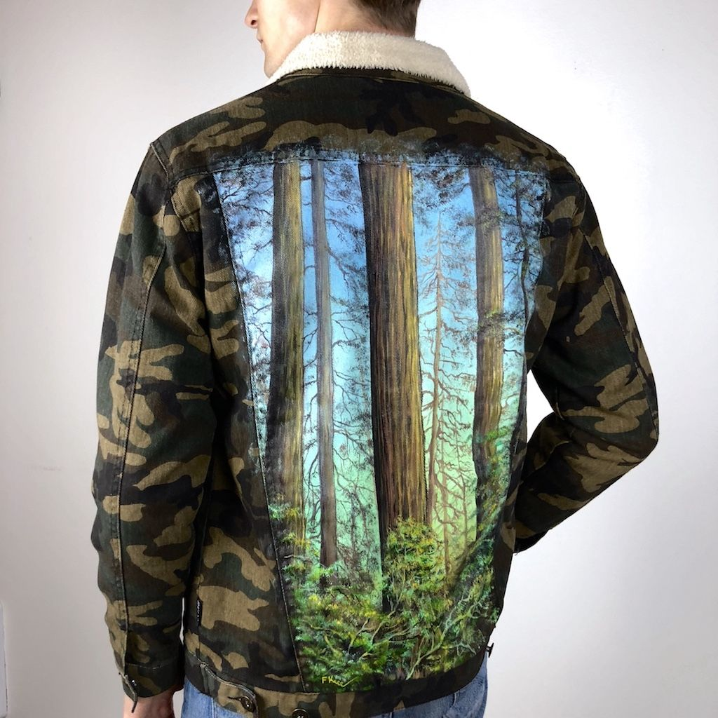 Men S Painted Jacket Jackets Painted Jacket Camo Jeans [ 1024 x 1024 Pixel ]