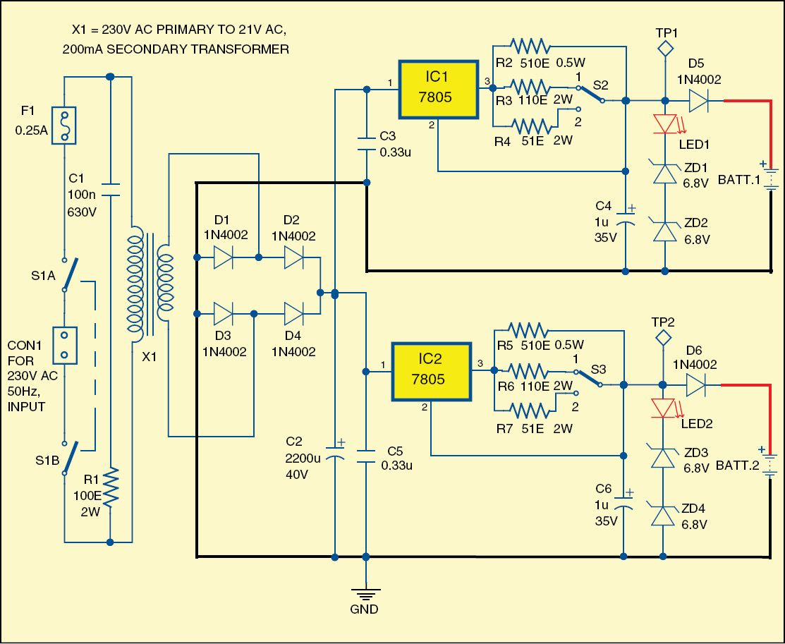 Device For Maintaining Car Batteries Automobile Pinterest Cars 12v To 6v Converter Circuit With 7805 622 Fig 1