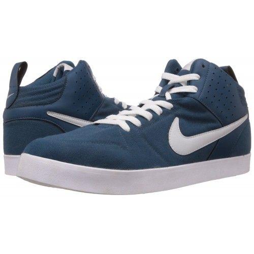 8c50142608 NIKE LITEFORCE III Nike Men s Liteforce III Mid Sneakers (White   navy Blue)