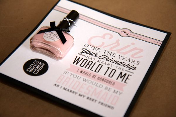 wedding invitation bridesmaid nailpolish If you want to make – Creative Party Invitation