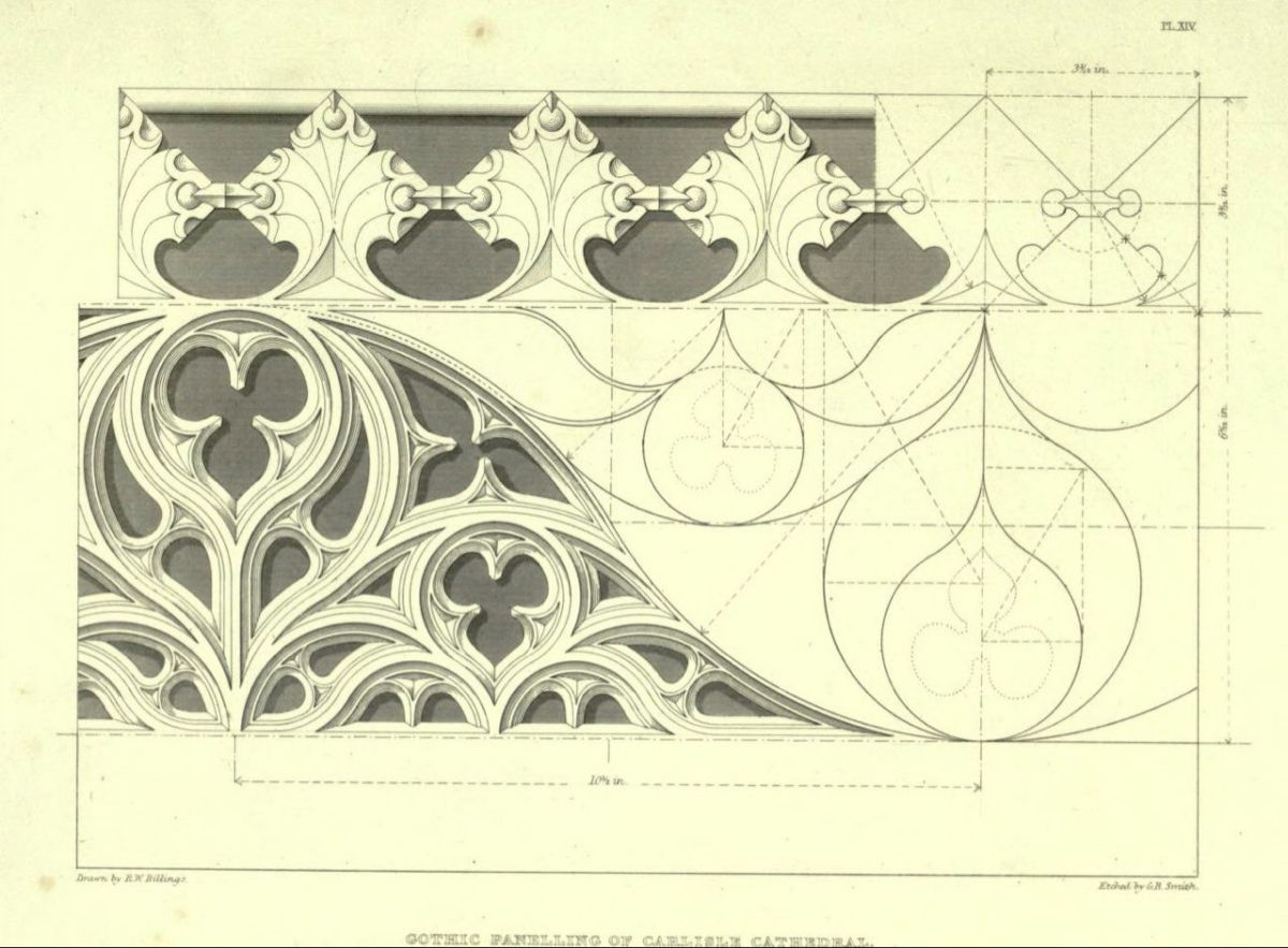 Billings R W Ornament Drawing Architecture Drawing Geometric Drawing