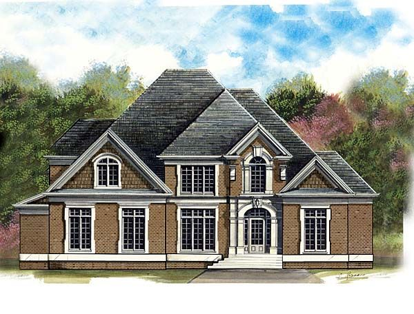 Greek Revival Style House Plan with 4 Bed 3 Bath 3 Car Garage