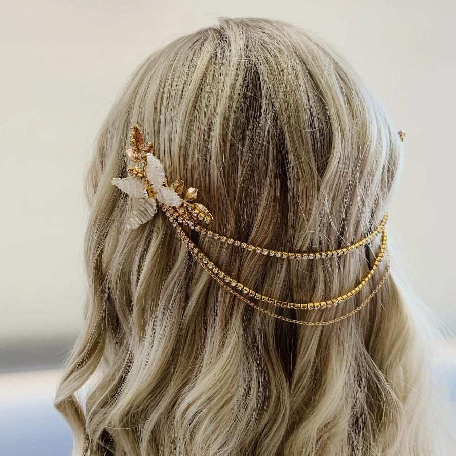 Crystal Hair Accessories Bohemian Bride Daenerys Mother Of Dragons Mother Of Dragons Hair Braiding Crystals