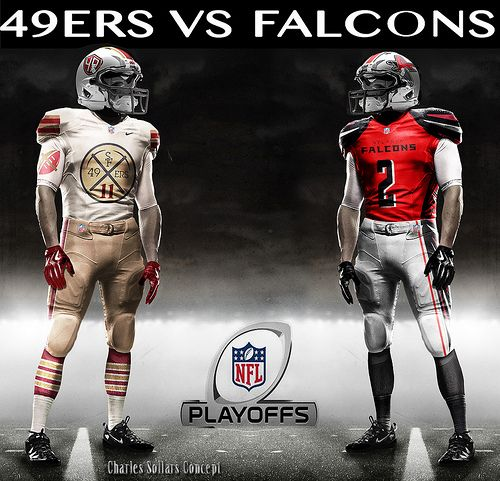 Atl V 49 2 Nfl Outfits Vikings Packers 49ers Vs