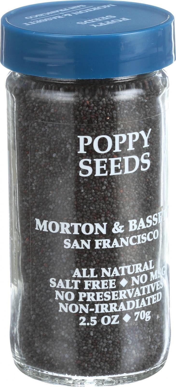 Morton And Bassett Seasoning - Poppy Seeds - 2.5 Oz - Case Of 3
