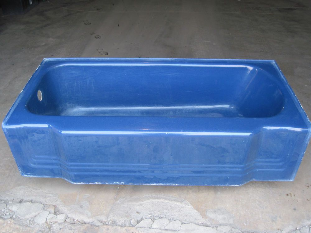 Antique Vintage American Standard Pembroke Navy Blue Bathtub 66 ...