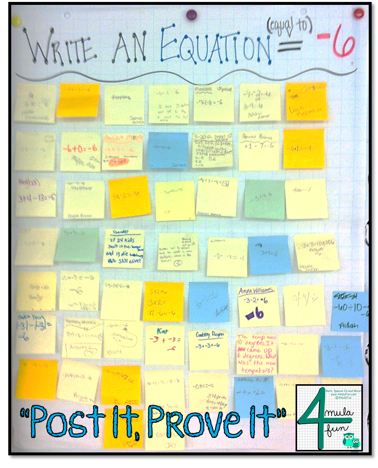 Post It, Prove It- An Exit TIcket Strategy great for Middle School Classes