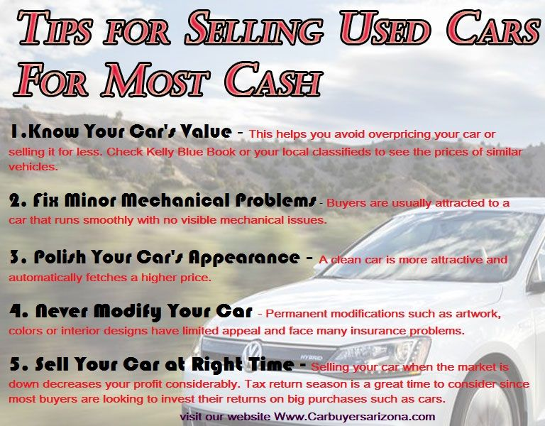 Tips For Selling Used Cars For Top Dollar Sell Used Car Car Care Tips Sell Car