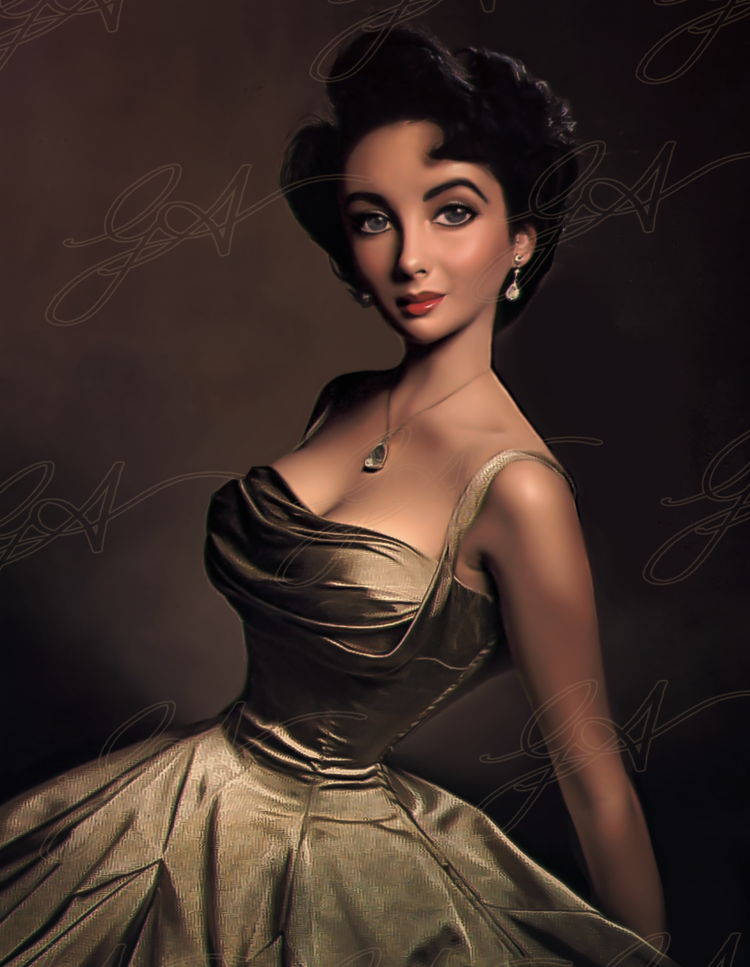 Icons #hollywoodgoldenage A Hollywood beauty, an iconic actress.     Famed for her love of jewellery and her many marriages. I have wanted to explore our fascination with the Golden Age of Hollywood for a long time.     This is my artistic representation of yesterdays screen legends, today. #hollywoodgoldenage