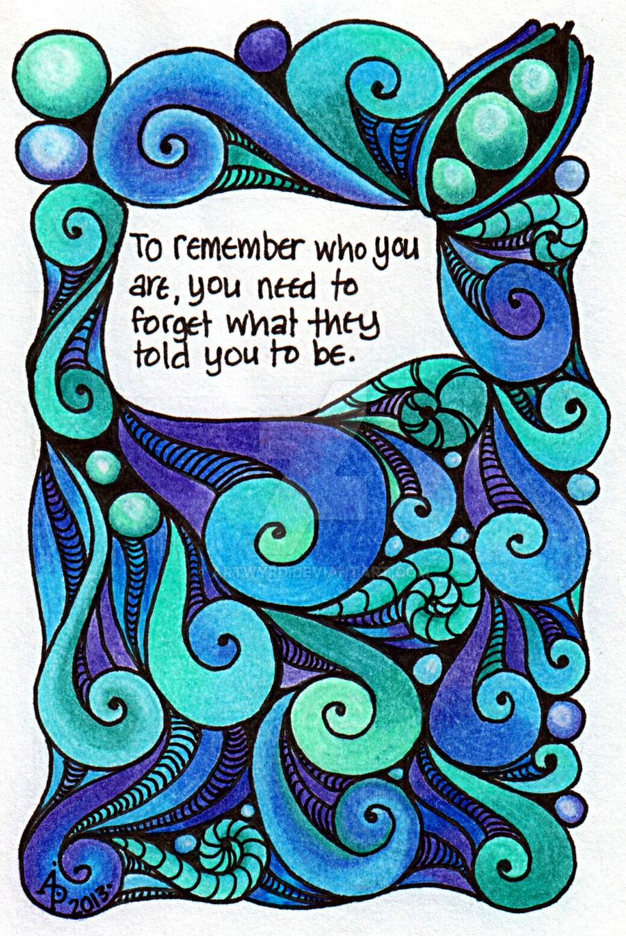 To Remember Who You Are by Artwyrd.deviantart.com on @DeviantArt